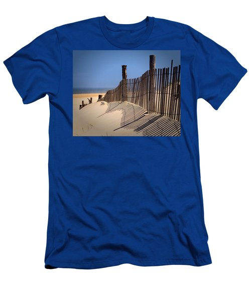 Fenwick Dune Fence And Shadows Men's T-Shirt (Athletic Fit)