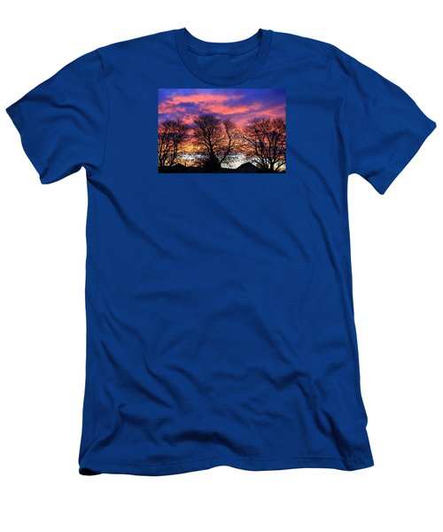 Men's T-Shirt (Athletic Fit) featuring the painting Filigree Sunset by Nareeta Martin