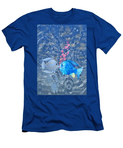 Fish In Love Men's T-Shirt (Athletic Fit)