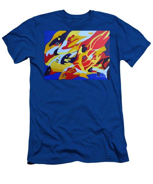 Fish Shoal Abstract 2 Men's T-Shirt (Athletic Fit)
