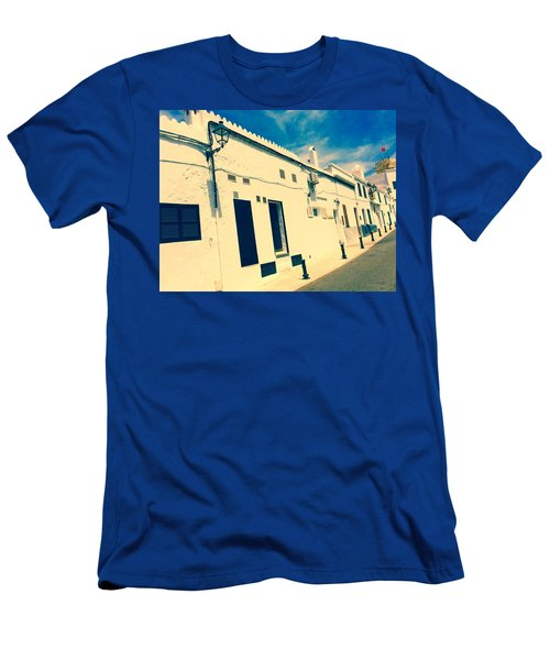 Fishermens' Cottages In Cuitadella Men's T-Shirt (Athletic Fit)