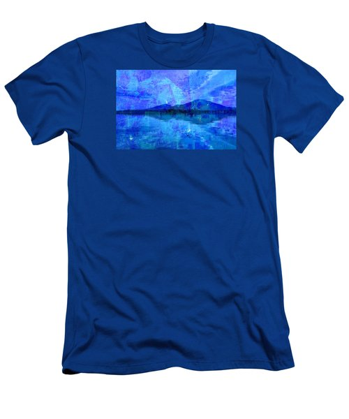 Flagstaff Lake Blu Men's T-Shirt (Athletic Fit)