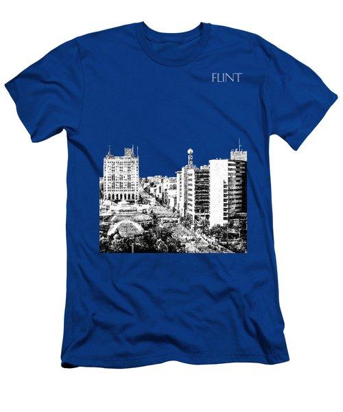 Flint Michigan Skyline - Aqua Men's T-Shirt (Athletic Fit)