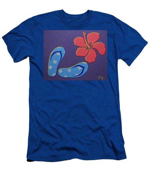 Flip Flops Men's T-Shirt (Athletic Fit)