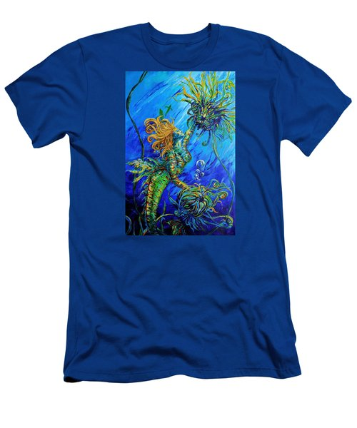 Floating Blond Mermaid Men's T-Shirt (Athletic Fit)
