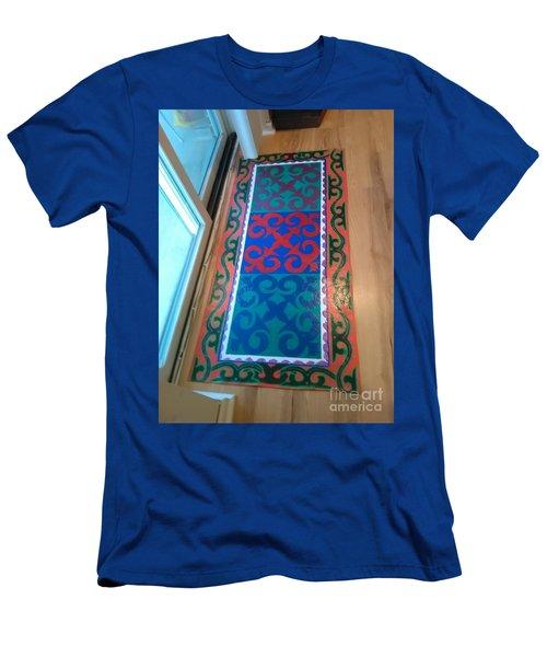 Floor Cloth Arabesque Men's T-Shirt (Slim Fit) by Judith Espinoza