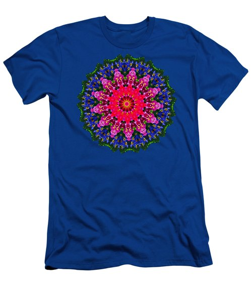 Floral Kaleidoscope By Kaye Menner Men's T-Shirt (Athletic Fit)