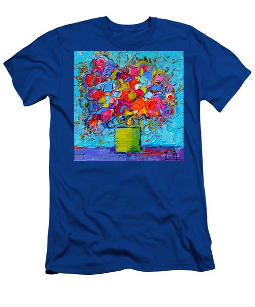 Floral Miniature - Abstract 0415 Men's T-Shirt (Athletic Fit)