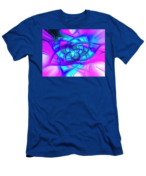 Men's T-Shirt (Athletic Fit) featuring the photograph Flower Abstract by Penny Lisowski