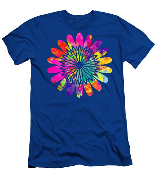 Flower Power 3 - Tee Shirt Design Men's T-Shirt (Slim Fit) by Debbie Portwood