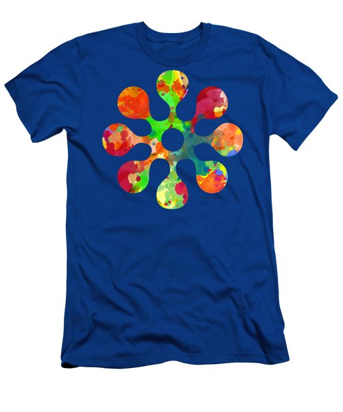 Flower Power 4 - Tee Shirt Design Men's T-Shirt (Slim Fit) by Debbie Portwood