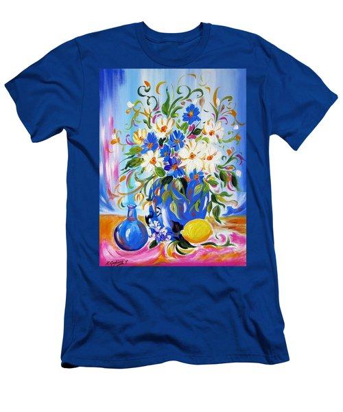 Flowers And Lemon Men's T-Shirt (Athletic Fit)