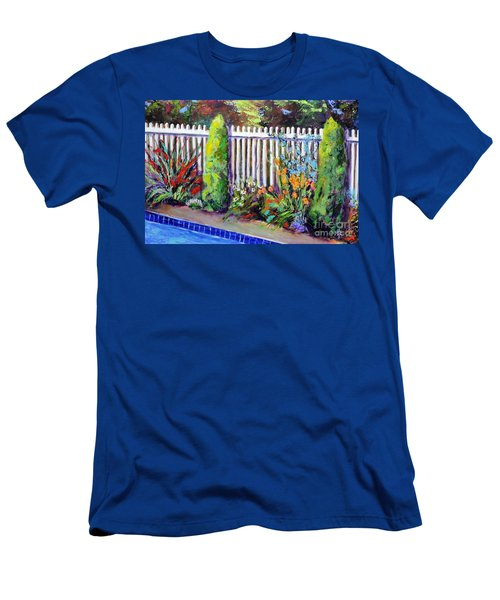 Flowers By The Pool Men's T-Shirt (Athletic Fit)