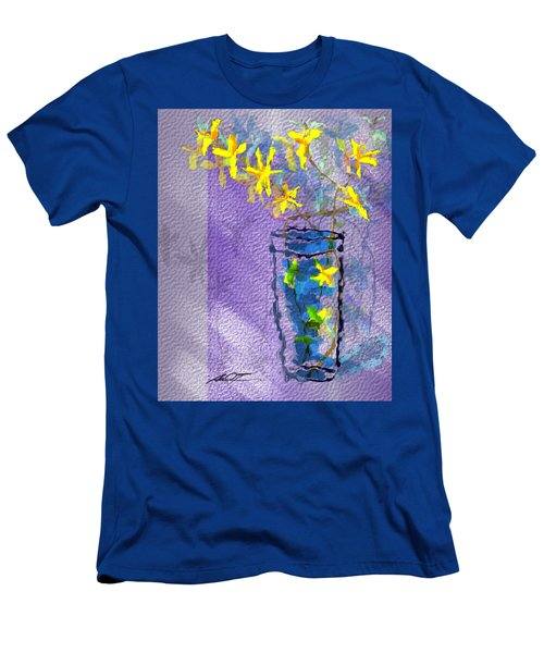 Flowers In Vase Men's T-Shirt (Athletic Fit)