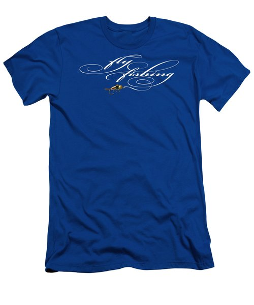Fly Fishing Nymph Men's T-Shirt (Slim Fit) by Rob Corsetti