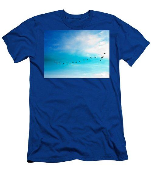 Flying Away Men's T-Shirt (Slim Fit) by Jose Rojas