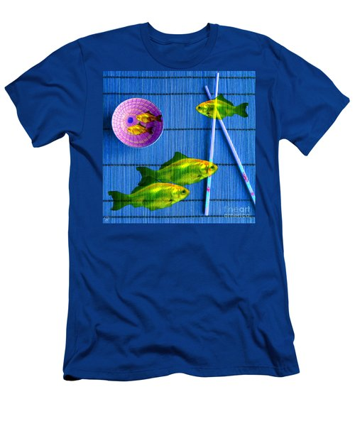 Flying Fish And The Pink Moon Men's T-Shirt (Athletic Fit)