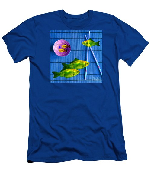 Men's T-Shirt (Athletic Fit) featuring the photograph Flying Fish And The Pink Moon by LemonArt Photography