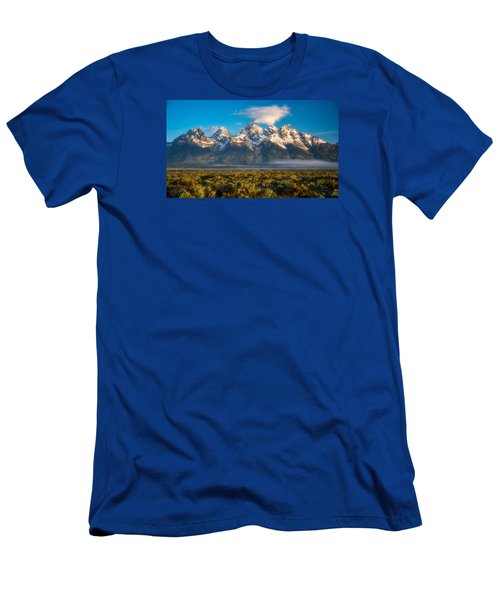 Fog At The Tetons Men's T-Shirt (Athletic Fit)