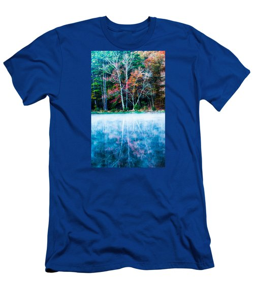 Fog On The Lake Men's T-Shirt (Slim Fit) by Parker Cunningham