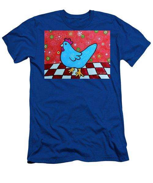 Folk Art Rooster Men's T-Shirt (Athletic Fit)