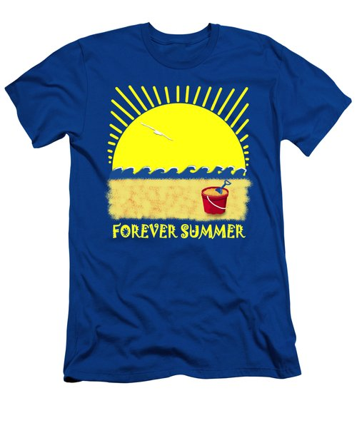 Men's T-Shirt (Slim Fit) featuring the digital art Forever Summer 8 by Linda Lees