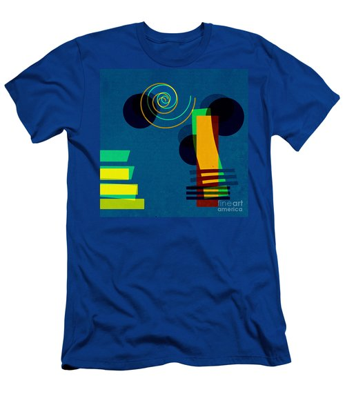 Men's T-Shirt (Slim Fit) featuring the digital art Formes - 03b by Variance Collections