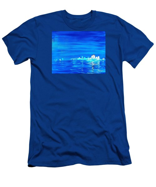Fort Myers By Night Men's T-Shirt (Athletic Fit)