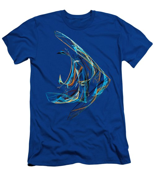 Fractal - Angelfish Men's T-Shirt (Athletic Fit)