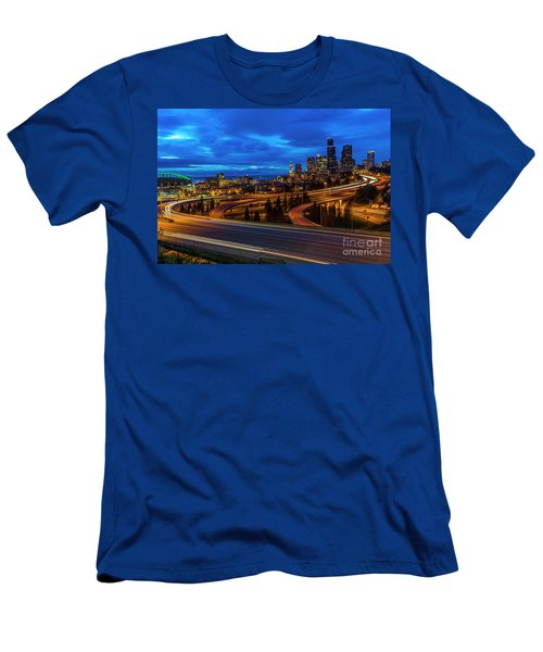 Freeway 5 North To Seattle Men's T-Shirt (Athletic Fit)