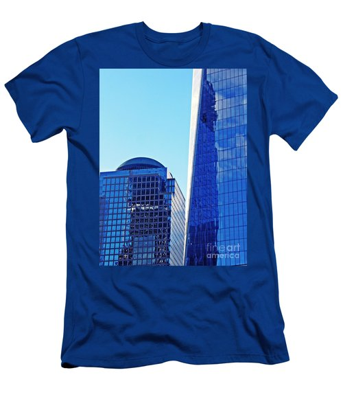 Men's T-Shirt (Slim Fit) featuring the photograph Freedom Tower And 2 World Financial Center by Sarah Loft