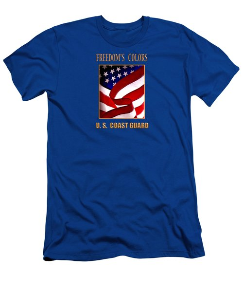 Freedom's Colors Uscg Men's T-Shirt (Slim Fit) by George Robinson