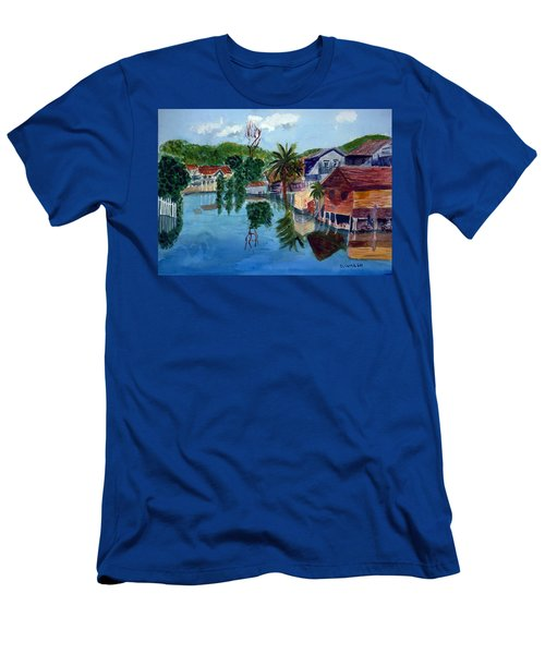 French Harbor Isla De Roatan Men's T-Shirt (Athletic Fit)