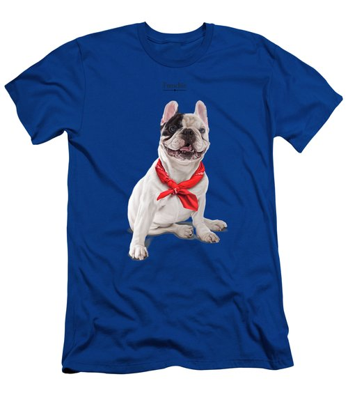 Men's T-Shirt (Athletic Fit) featuring the digital art Frenchie by Rob Snow