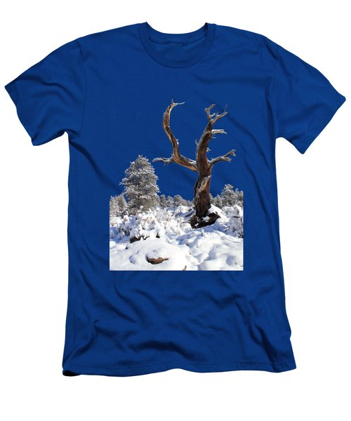 Men's T-Shirt (Slim Fit) featuring the photograph Fresh Snow by Shane Bechler