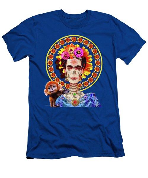 Frida De Muertos Men's T-Shirt (Athletic Fit)