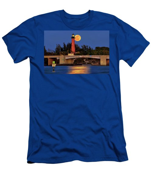 Full Moon Over Jupiter Lighthouse, Florida Men's T-Shirt (Athletic Fit)