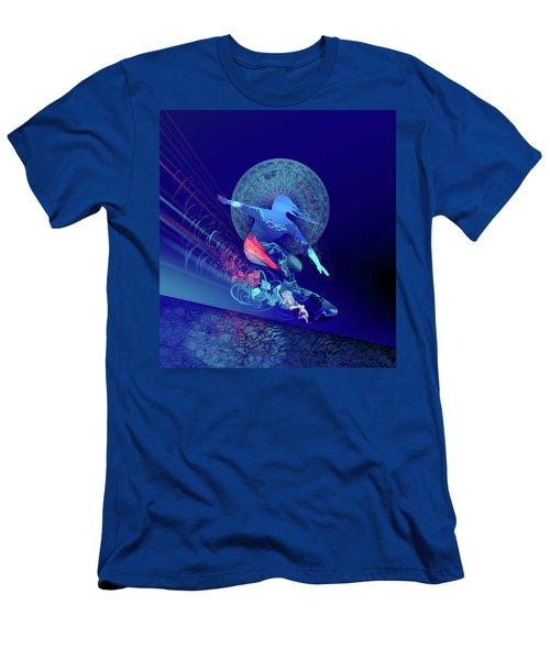 Galaxy Surfer 4 Men's T-Shirt (Athletic Fit)
