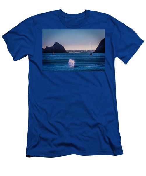 Gary Whale Breaching Men's T-Shirt (Athletic Fit)