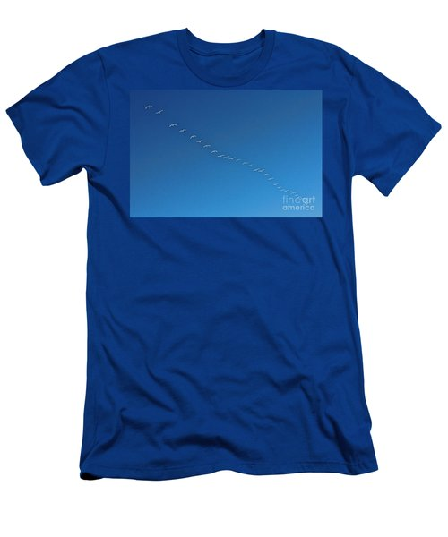 Geese On The Run Men's T-Shirt (Athletic Fit)