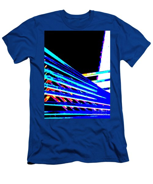 Geometric Waves Men's T-Shirt (Slim Fit) by Tim Townsend