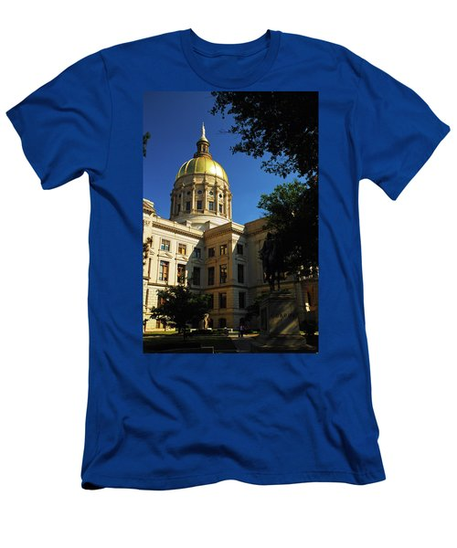 Georgia State Capitol Men's T-Shirt (Slim Fit) by James Kirkikis