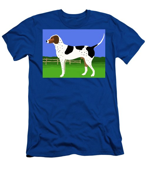 German Shorthaired Pointer In A Field Men's T-Shirt (Slim Fit) by Marian Cates