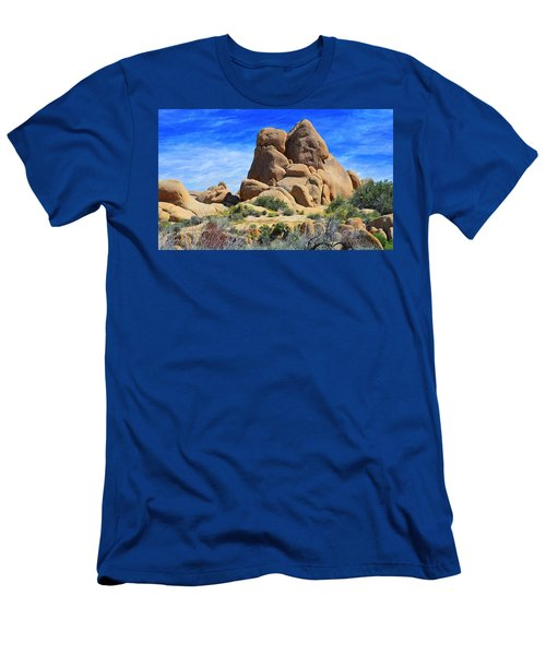 Ghost Rock - Joshua Tree National Park Men's T-Shirt (Slim Fit) by Glenn McCarthy Art and Photography