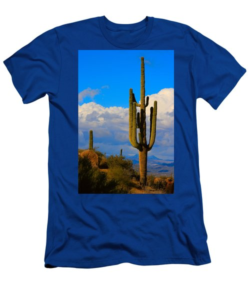Giant Saguaro In The Southwest Desert  Men's T-Shirt (Athletic Fit)