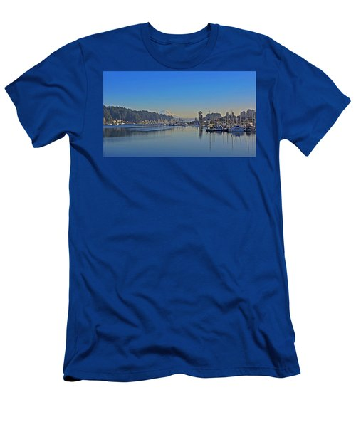 Men's T-Shirt (Slim Fit) featuring the photograph Gig Harbor, Wa by Jack Moskovita