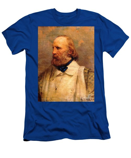 Men's T-Shirt (Slim Fit) featuring the painting Giuseppe Garibaldi by Pg Reproductions