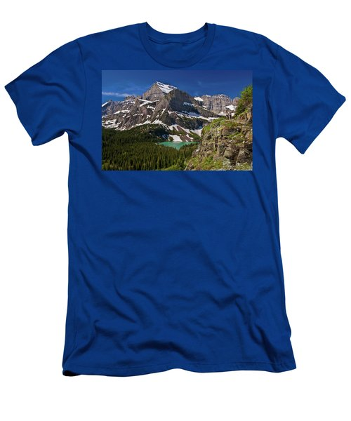 Men's T-Shirt (Athletic Fit) featuring the photograph Glacier Backcountry 2 by Gary Lengyel