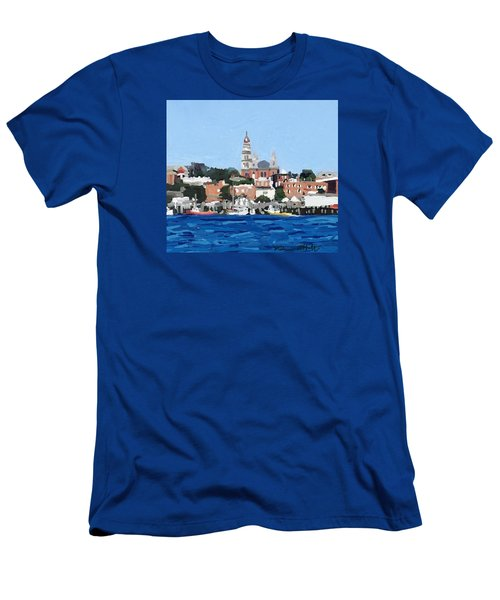 Gloucester City Hall From Inner Harbor Men's T-Shirt (Athletic Fit)