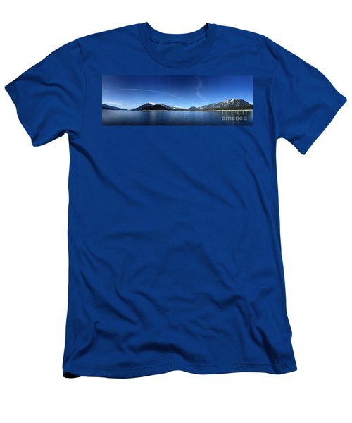 Men's T-Shirt (Slim Fit) featuring the photograph Glowing In The Blue by Victor K